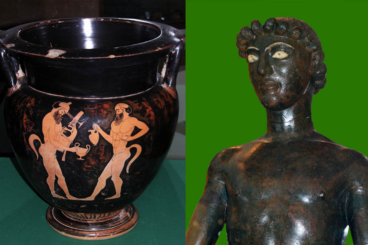 Museo Civico, Cratere A Figure Rosse – Efebo Bronzo, V Sec.a.C. Foto G.Polizzi