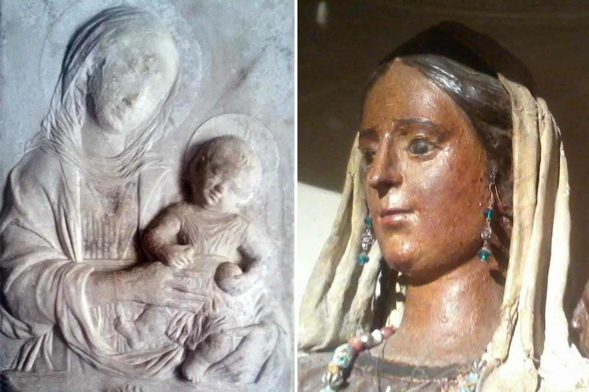 Chiesetta Di San Nicola, A.Gagini Madonna Con Bimbo, Marmo, XVI Sec  Madonna Lignea Foto ReHu