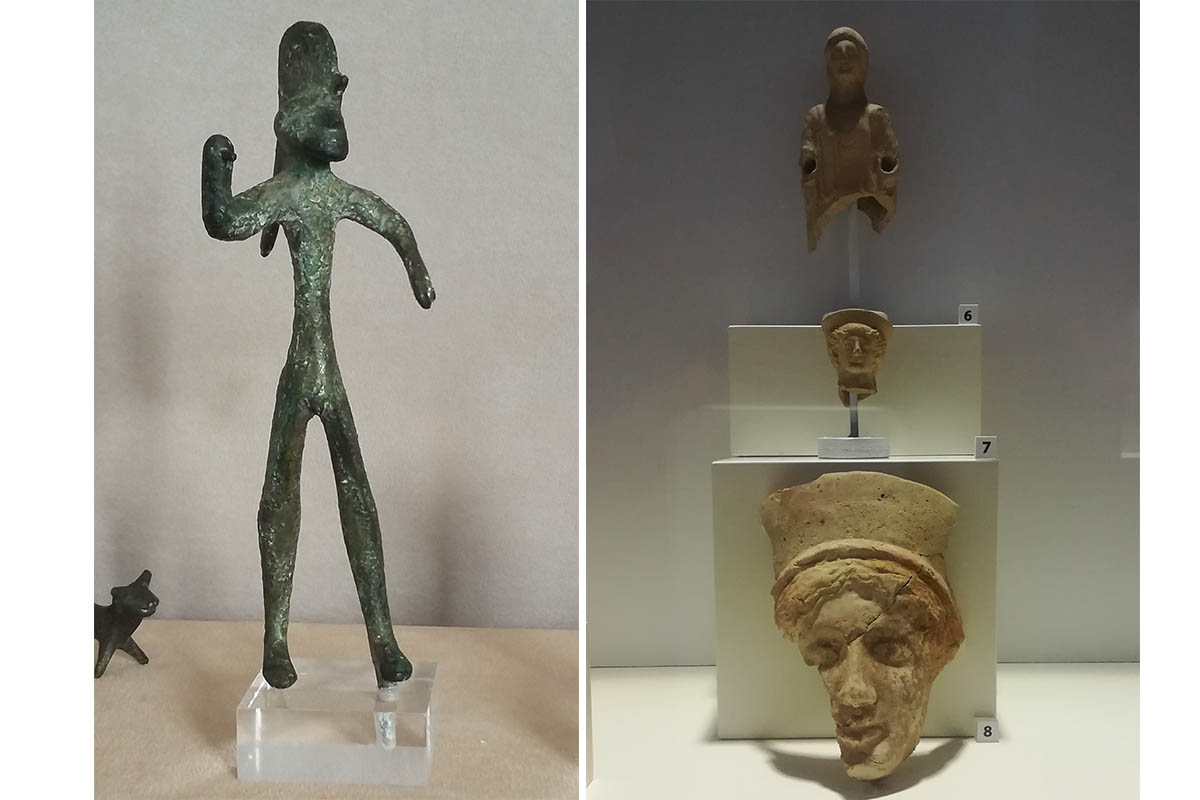 Museo Pepoli Statuetta Guerriero Bronzo, VI – V Sec.a.C.sec – Foto ReHu Manufatti Greci Di Selinunte, V Sec.a.C. – Foto E. Rossi
