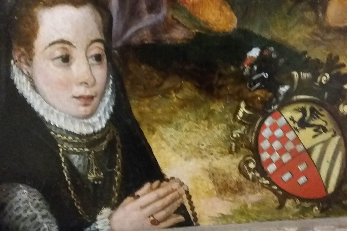 Partanna, Castello Grifeo, S.de Wobreck Madonna Del Rosario, Part. Eleonora Grifeo, 1585 – Foto ReHu