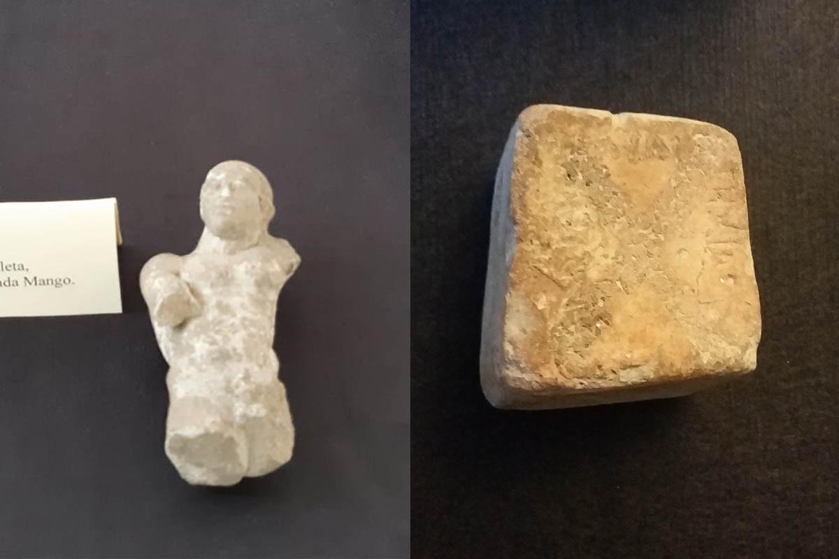 Peso Da Telaio Con Iscrizione In Lingua Elima, VI – V Sec A.C.  Statuina Atleta, V.sec.a.C. – Foto ReHu