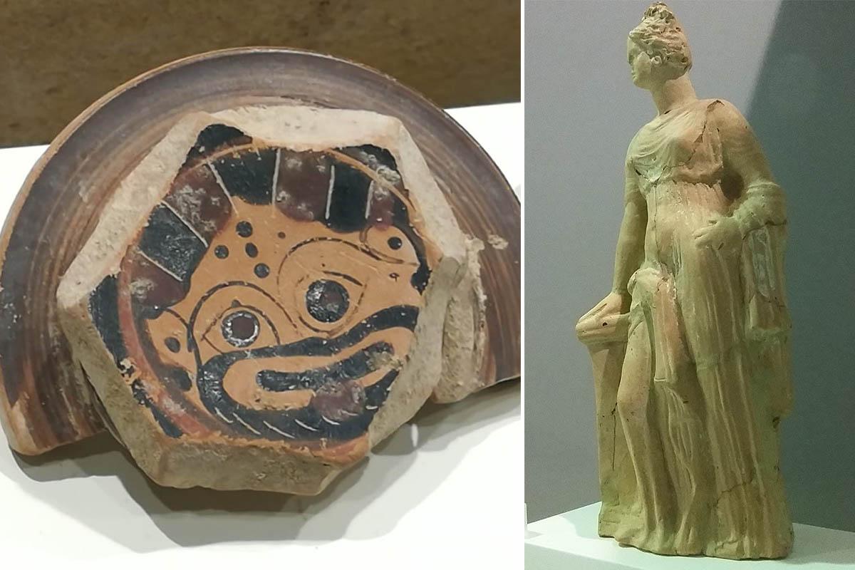 Baglio Florio Frammento Di Ceramica Greca, V Sec.a.C.  Tanagra, Terracotta IV Sec.a.C. Foto ReHu